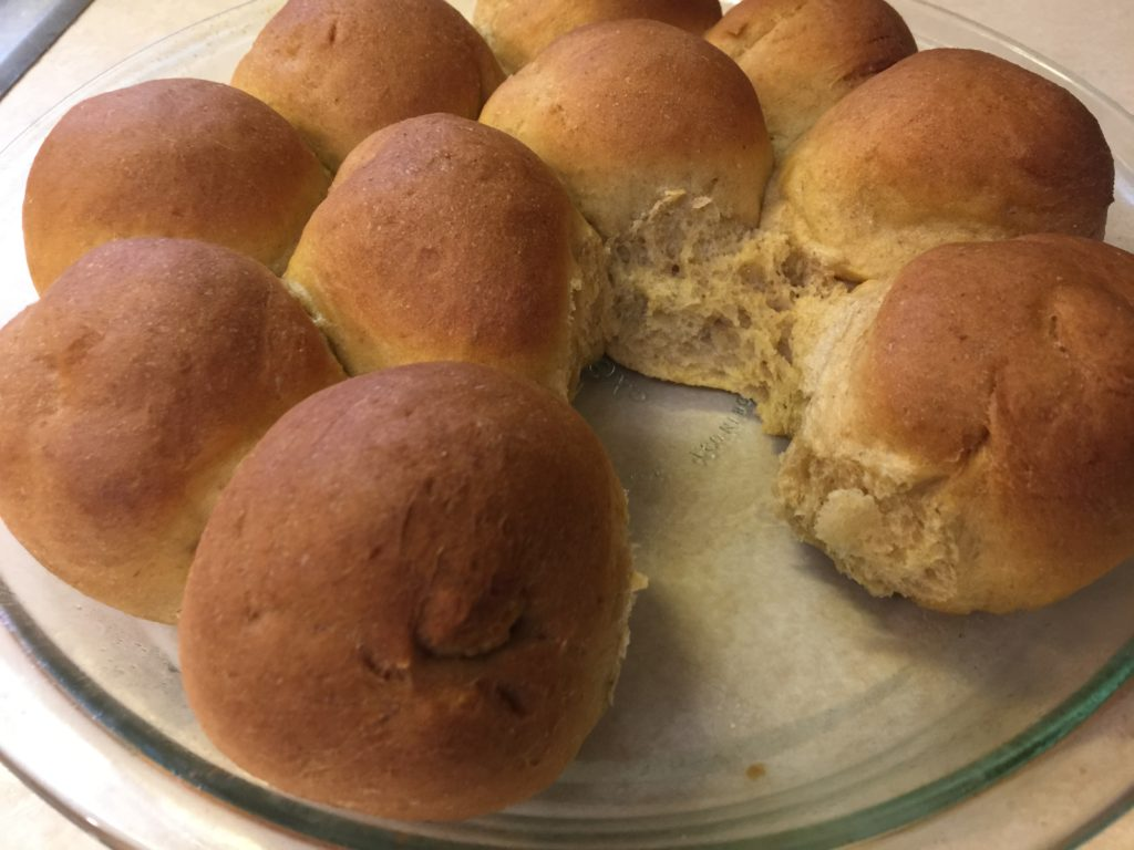 Low Carb Sprouted Wheat Dinner Rolls