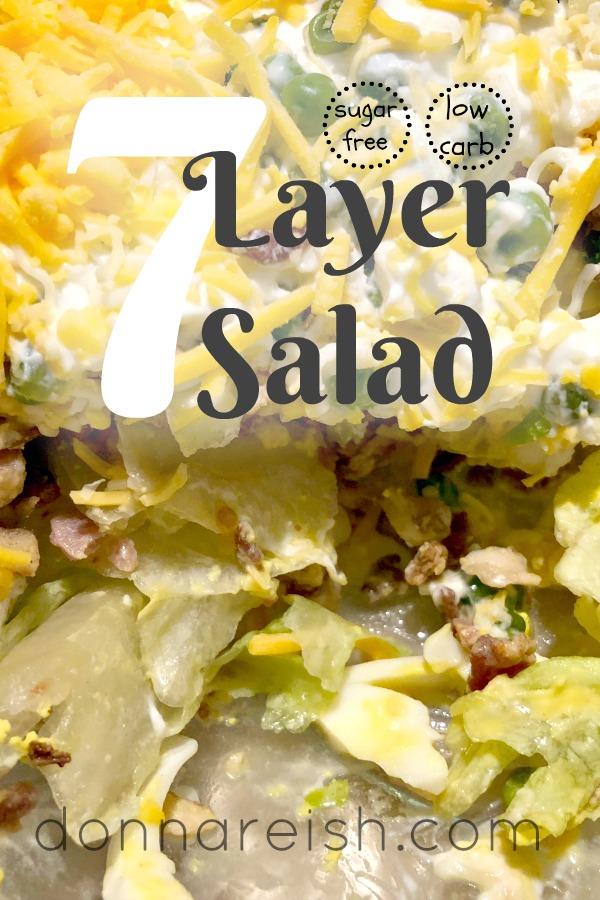 Low Carb 7 Layer Salad