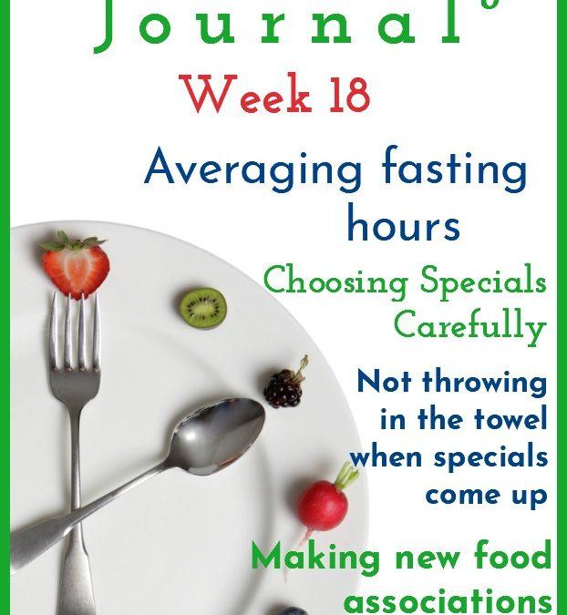 Intermittent Fasting Journal – Week 18