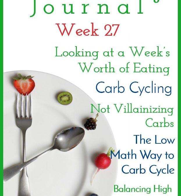 Intermittent Fasting Journal – Week 27
