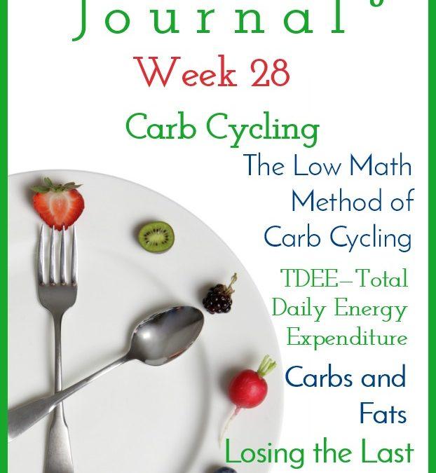 Intermittent Fasting Journal – Week 28