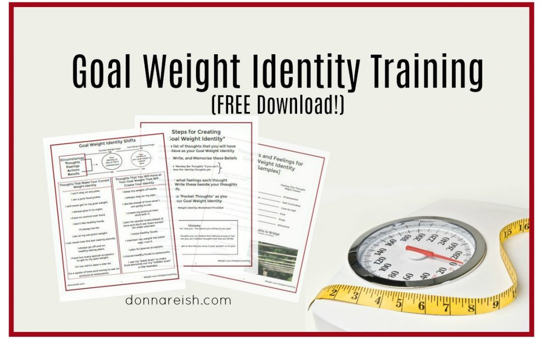 Goal Weight Identity Training (Free Download!)